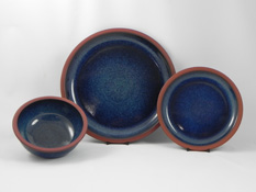 Suffolk Tableware in Ocean Blue