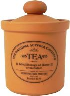 Original Suffolk Collection - Airtight Tea Canister - Terracotta - Made in England - 12cm x 16cm