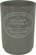 The Original Suffolk Collection - Utensil Holder - Slate Grey - Made in England - 11cm x 15cm