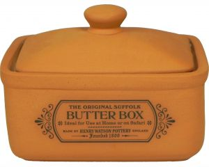 Original Suffolk Collection - Butter Box - Terracotta - Made in England - 12cm x 9cm x 10.5cm