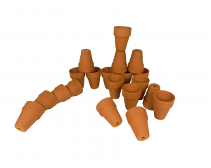 Pack of 20 Terracotta Plant pots, 7 cm in height x 5 cm in diameter