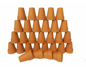Pack of 30 Terracotta Plant pots, 7 cm in height x 5 cm in diameter