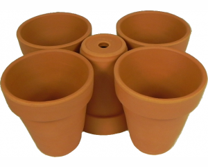 Pack of 5 Terracotta Plant pots, 8.5 cm in height x 8 cm in diameter