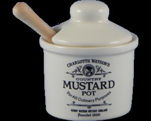 Charlotte Watson Cream Mustard Pot