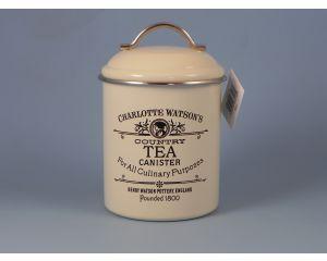 Charlotte Enamel Tea Canister