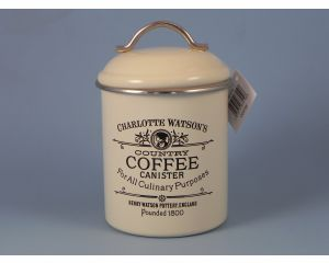 Charlotte Enamel Coffee Canister