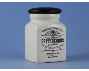 Charlotte Watson Cream Herb/Spice Jar - Peppercorn