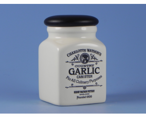 Charlotte Watson Cream Herb/Spice Jar - Garlic