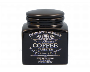 Charlotte Watson Black Coffee Storage Jar