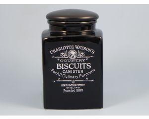 Charlotte Watson Black Biscuit Storage Jar