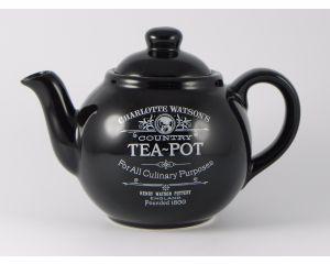 Charlotte Watson Black Four Cup Teapot