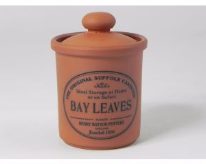 Herb/Spice Jar in Terracotta - Bay Leaves