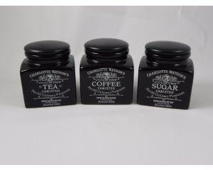 Set of Store Jars in Charlotte Watson Black