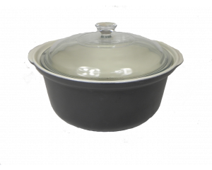 Charlotte Watson Country Cookware Two Litre Casserole Dish with Glass Lid