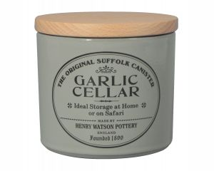 Original Suffolk Collection - Garlic Keeper - Dove Grey - Made in England - 11cm x 11cm