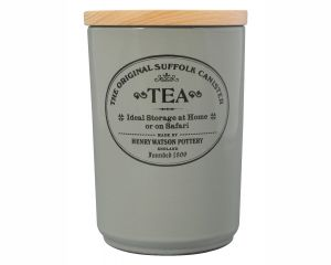 Original Suffolk Collection - Large Tea Jar - Dove Grey - Made in England - 11cm x 16cm