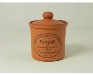 Small Sugar Jar in Terracotta