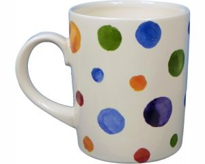 The Original Suffolk Polka Dot Collection - Tankard (400ml) - White - Made in England - 11cm x 9.5cm