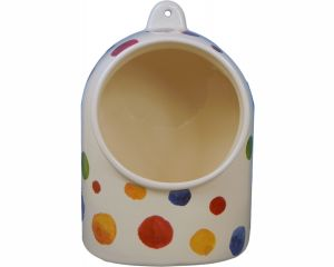 The Original Suffolk Polka Dot Collection - Salt Pig - White - Made in England - 18cm x 13cm