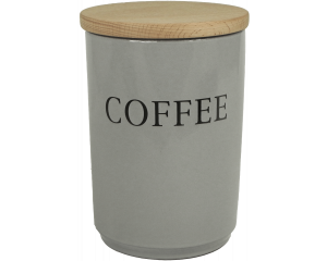 Text - Large Coffee Jar - Dove Grey - Made in England - 11cm x 16cm