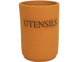 Text - Utensil Holder - Terracotta - Made in England - 11cm x 15cm