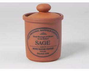 Herb/Spice Jar in Terracotta - Sage