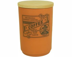 Suffolk Canister - Large Coffee Jar - Terracotta - Made in England - 11cm x 16cm