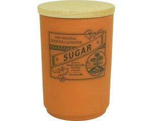 Suffolk Canister - Large Sugar Jar - Terracotta - Made in England - 11cm x 16cm