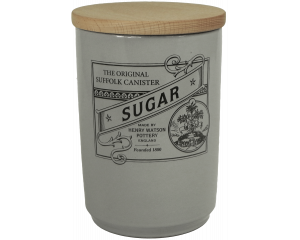 Suffolk Canister - Large Sugar Jar - Dove Grey - Made in England - 11cm x 16cm