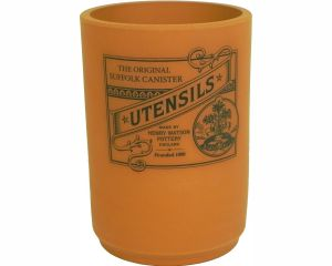 Suffolk Canister - Utensil Holder - Terracotta - Made in England - 11cm x 15cm