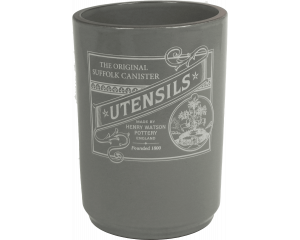 Suffolk Canister - Utensil Holder - Slate Grey - Made in England - 11cm x 15cm