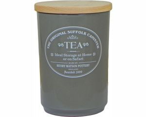 Original Suffolk Collection - Large Tea Jar - Slate Grey - Made in England - 11cm x 16cm