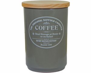 Original Suffolk Collection - Large Coffee Jar - Slate Grey - Made in England - 11cm x 16cm