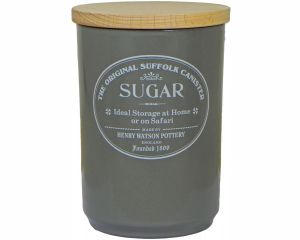 Original Suffolk Collection - Large Sugar Jar - Slate Grey - Made in England - 11cm x 16cm