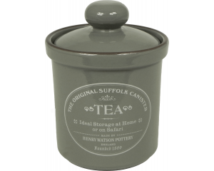 Original Suffolk Collection - Airtight Tea Canister - Slate Grey - Made in England - 12cm x 16cm