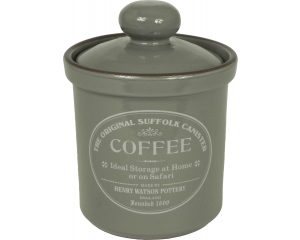 Original Suffolk Collection - Airtight Coffee Canister - Slate Grey - Made in England - 12cm x 16cm