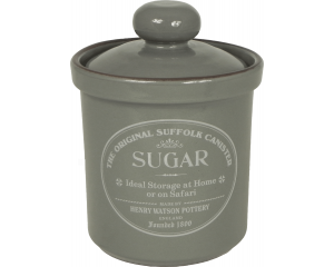 Original Suffolk Collection - Airtight Sugar Canister - Slate Grey - Made in England - 12cm x 16cm