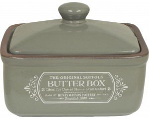 Original Suffolk Collection - Butter Box - Slate Grey - Made in England - 12cm x 9cm x 10.5cm