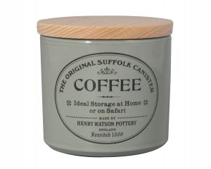 Original Suffolk Collection - Small Coffee Canister - Dove Grey - Made in England - 11cm x 11cm