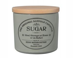 Original Suffolk Collection - Small Sugar Canister - Dove Grey - Made in England - 11cm x 11cm