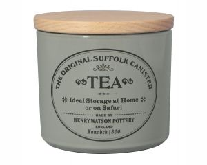 Original Suffolk Collection - Small Tea Canister - Dove Grey - Made in England - 11cm x 11cm