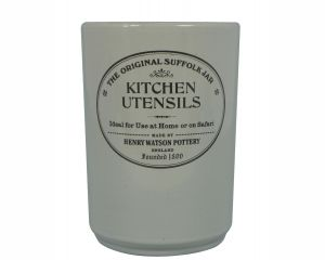 The Original Suffolk Collection - Utensil Holder - Dove Grey - Made in England - 11cm x 15cm