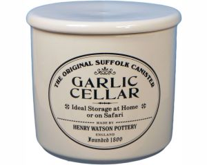 Original Suffolk Collection - Garlic Keeper - White - Made in England - 12cm x 12cm