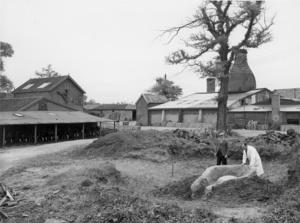 Jack Watson & Basil Brown building a replica Roman Kiln.